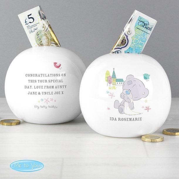 Personalised Tiny Tatty Teddy Money Box