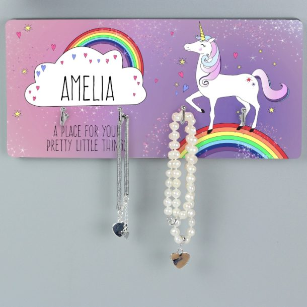 Personalised Unicorn Jewellery Hooks