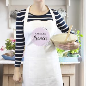Personalised Will Cook for Prosecco White Apron