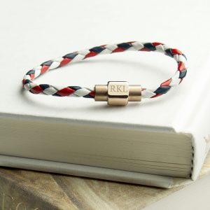 Personalised Women's Nautical Leather Bracelet