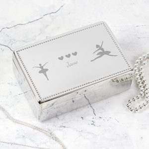 Personalised Ballerina Rectangular Jewellery Box