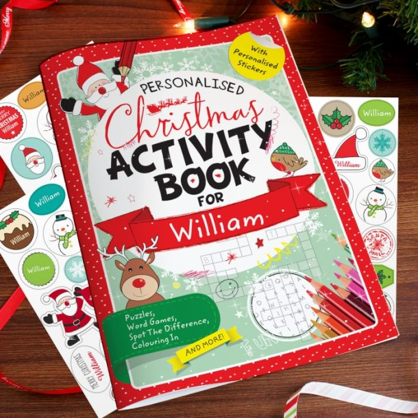 Personalised Christmas Activity Book & Stickers