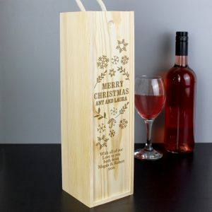 Personalised Christmas Bottle Presentation Box