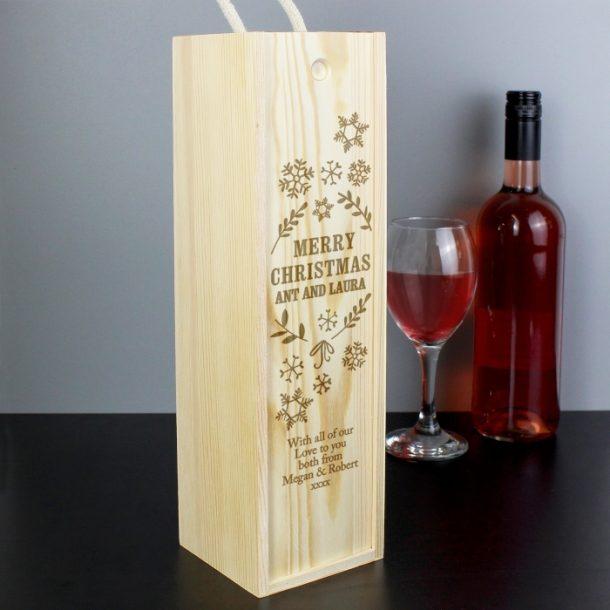 Personalised Christmas Bottle Presentation Box