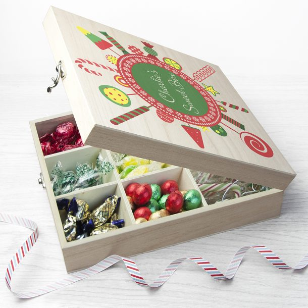 Personalised Christmas Candy Wreath Sweet Box