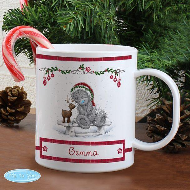 Personalised Me To You Reindeer Plastic Mug