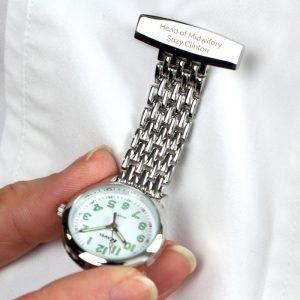Personalised Nurse's Fob Watch