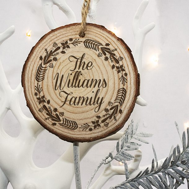 Personalised Wreath Family Christmas Tree Decoration