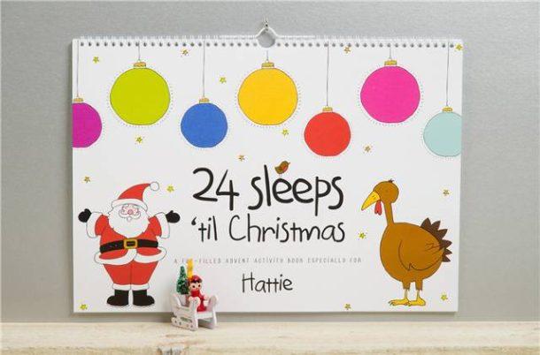 Personalised 24 Sleeps til Christmas Activity Book