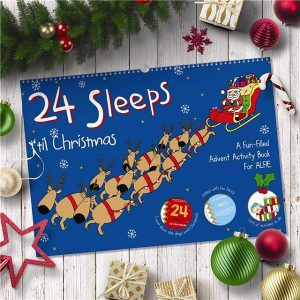 Personalised 24 Sleeps til A3 Christmas Activity Book