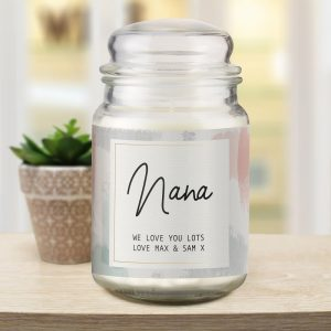 Personalised Pastel Abstract Candle Jar