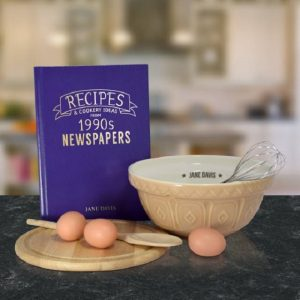 Personalised Recipes Newspaper Book - Hardback