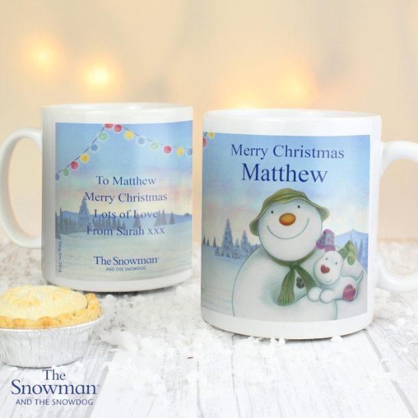 Personalised The Snowman & The Snowdog Mug