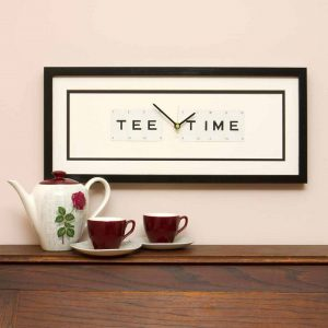 Tee Time Framed Clock