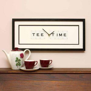 Tee Time Framed Clock