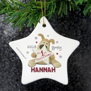Personalised Boofle My 1st Christmas Star Decoration