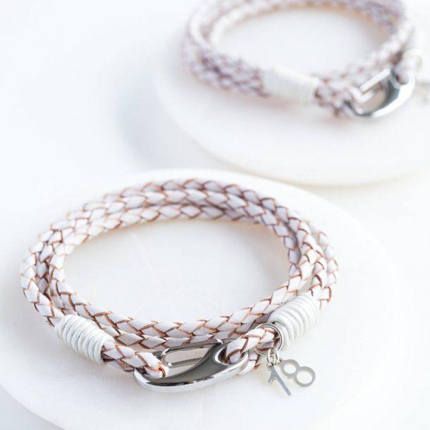 Milestone Birthday Leather Bracelet