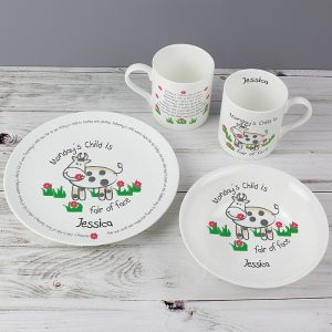 Personalised Days of the Week Breakfast Set