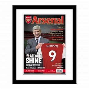 Personalised Framed Arsenal Magazine Cover Print
