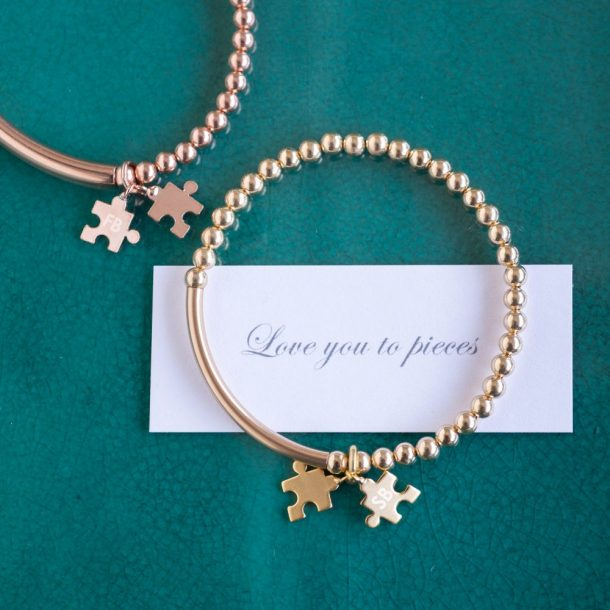 Personalised Love You To Pieces Bracelet