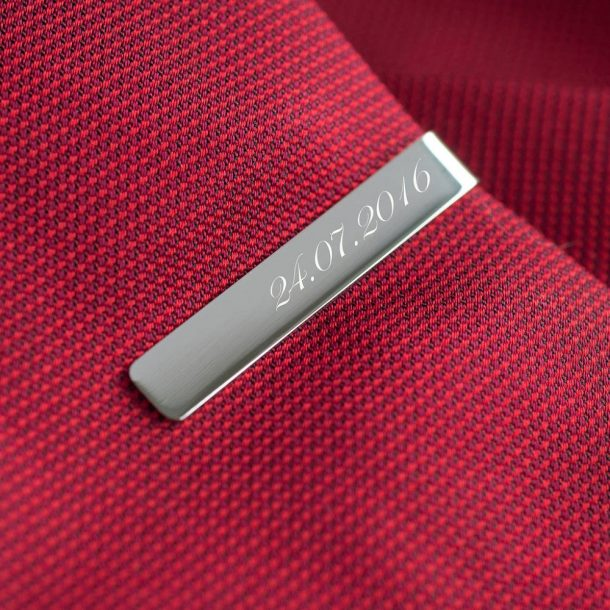 Personalised Special Date Tie Clip