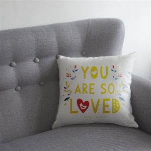 Personalised You Are So Loved Cushion