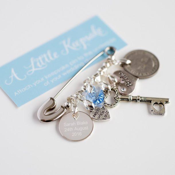 Personalised Bridal Wedding Pin