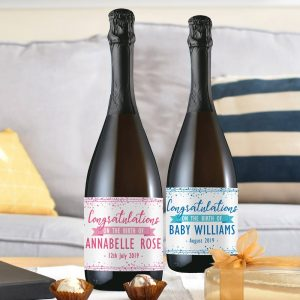 Personalised Congratulations on the Birth Prosecco