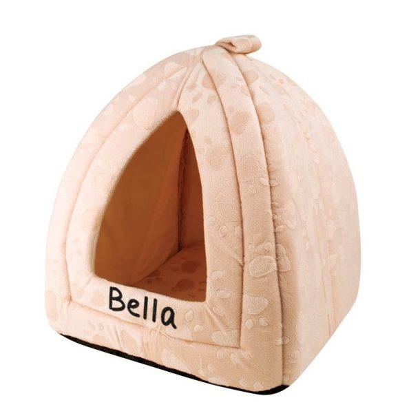 Personalised Cream Pyramid Pet Bed