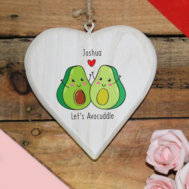 Personalised Let's Avo-Cuddle Hanging Heart