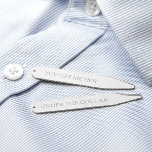 Personalised Secret Message Collar Stiffeners