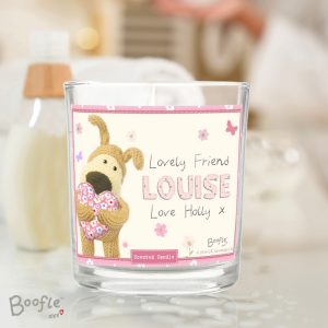 Personalised Boofle Scented Jar Candle