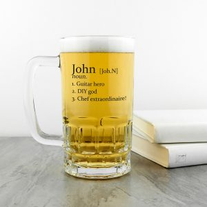 Personalised Definition Pint Tankard