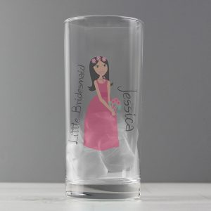 Personalised Fabulous Little Bridesmaid Hi Ball Glass