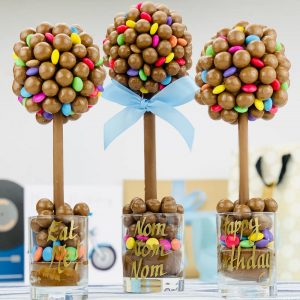 Personalised Malteser & Smarties Sweet Trees