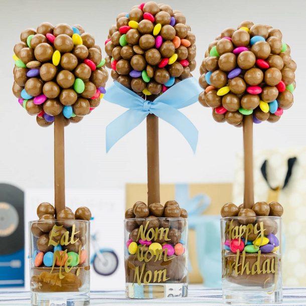 Personalised Malteser & Smarties Sweet Trees