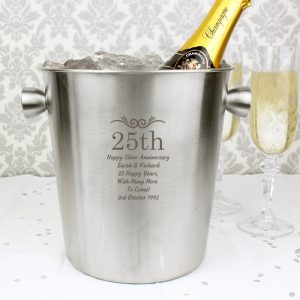 Personalised Numbers Stainless Steel Ice Bucket