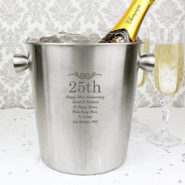 Personalised Numbers Stainless Steel Ice Bucket