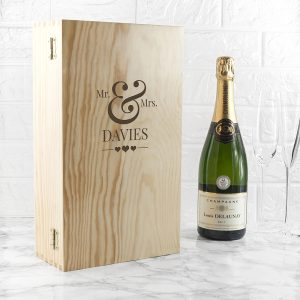 Personalised Wedding Double Wine Box