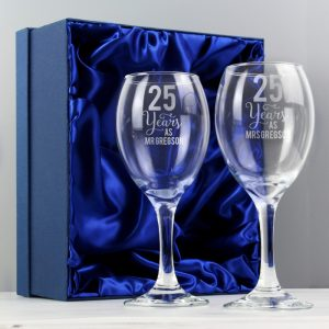 Personalised Years As Wine Glass Set