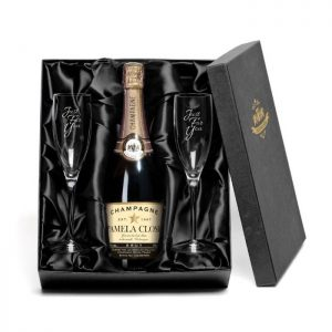 Personalised Champagne & Glass Flutes Gift Set