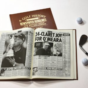 Personalised The Open Golf Newspaper Book