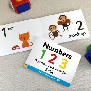 Personalised First Steps Numbers Book