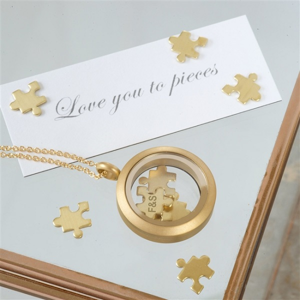 Gold I Love You To Pieces Necklace