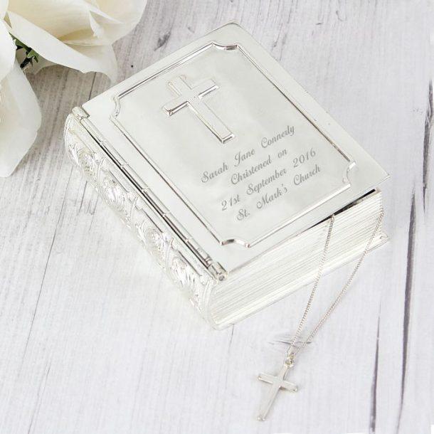 Personalised Bible Trinket Box