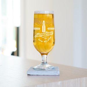 Personalised Homebrew Beer Glass