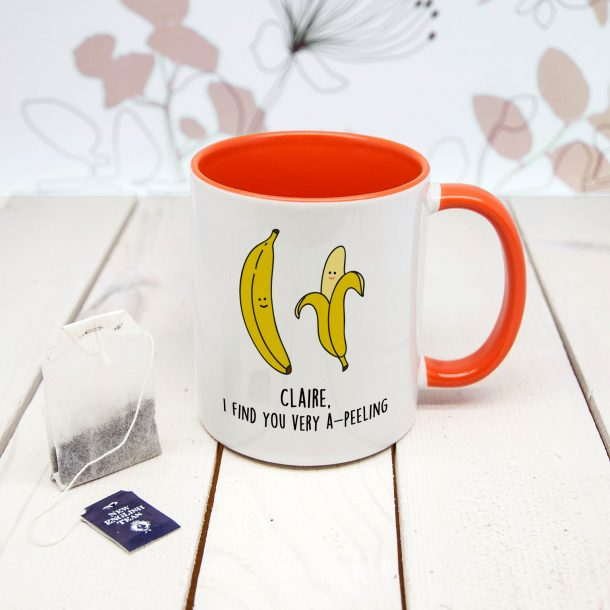 Personalised I Find You Very A-peeling Mug