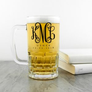Personalised Monogrammed Wedding Tankard