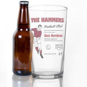 Personalised Any Team Vintage Football Glass