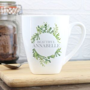 Personalised Botanical Latte Mug
